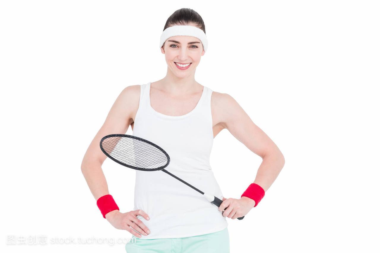 女运动员打羽毛球美女袜子的图片