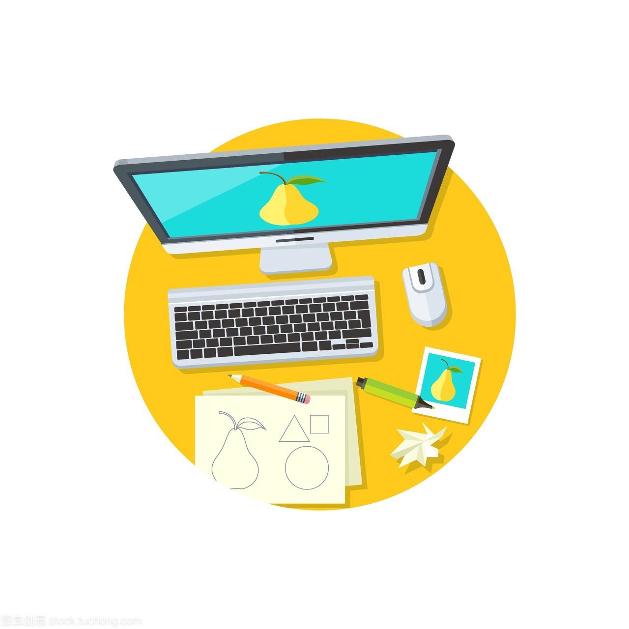 工作技术设计平面空间。平面设计工作室,单位装修设计图形备案图片