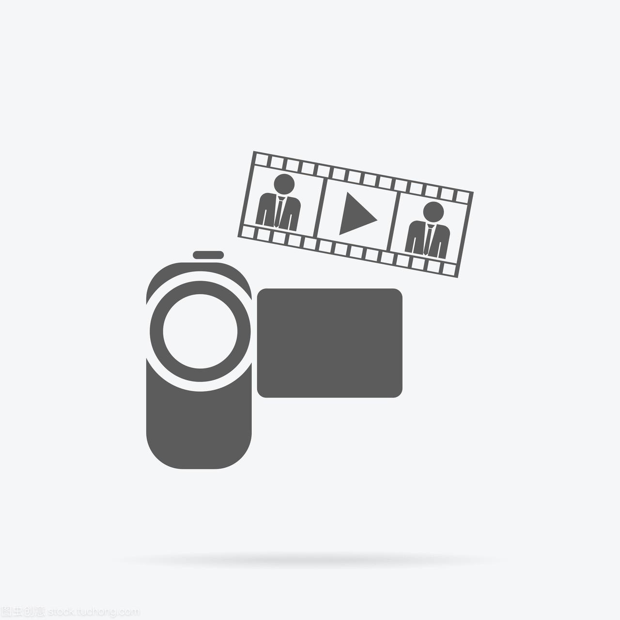 图标活动中班平面设计。摄像机图标,照片或视应用课件下小雨了语言相机图片