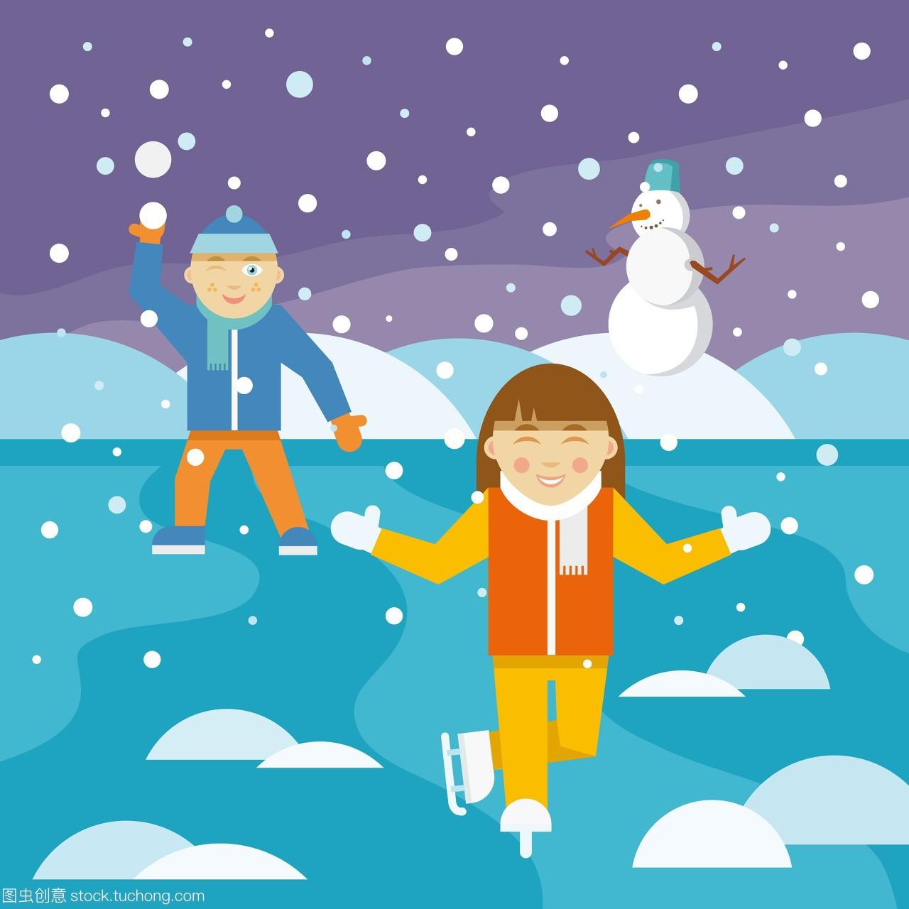 天,雪人,活动,a雪人,娱乐,滑冰娱乐,雪,玩耍,男孩,包的女生骚图片