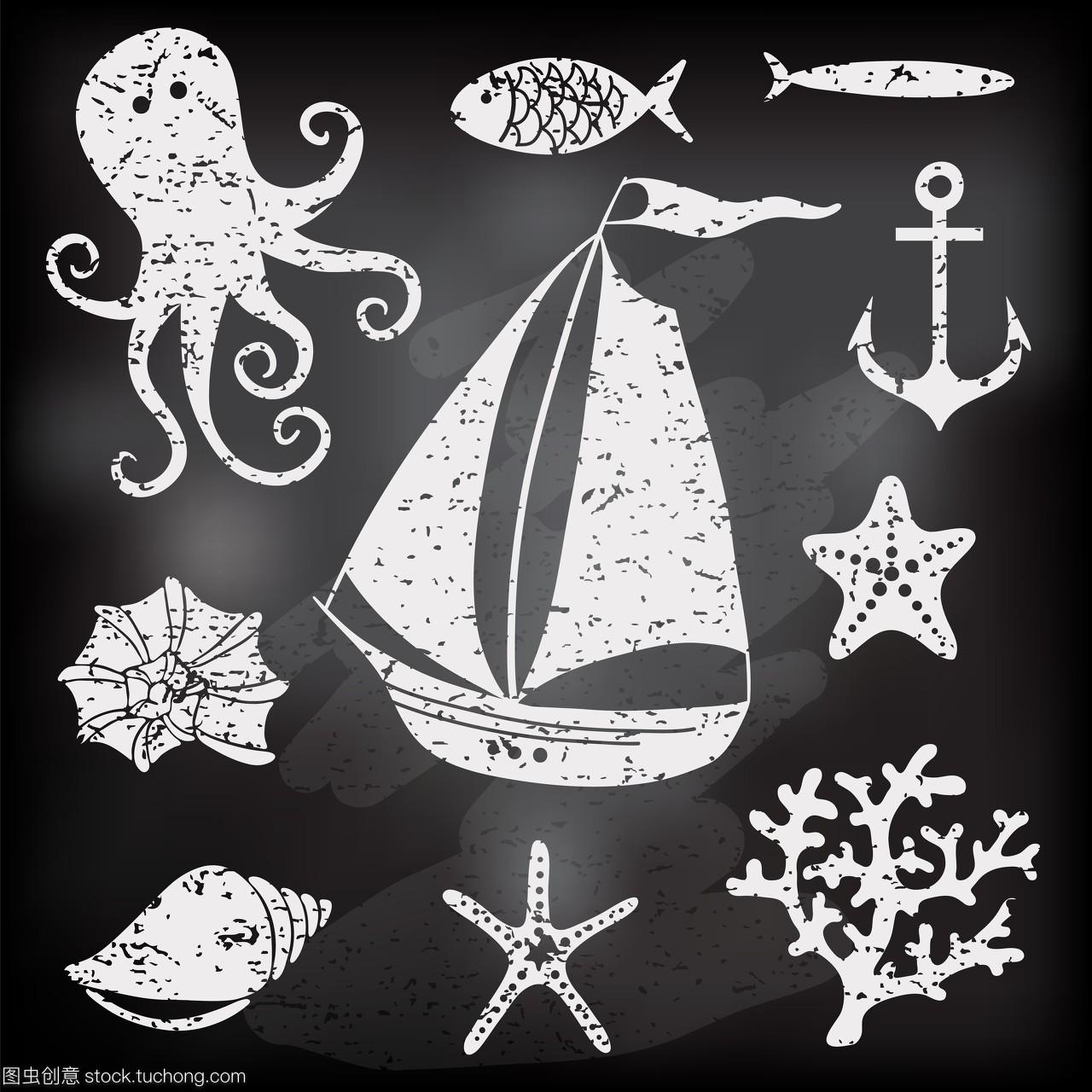 打架,珊瑚,漫画,艺术,船舶,背景,装饰,v珊瑚,停泊,画画韩国漫画的图片