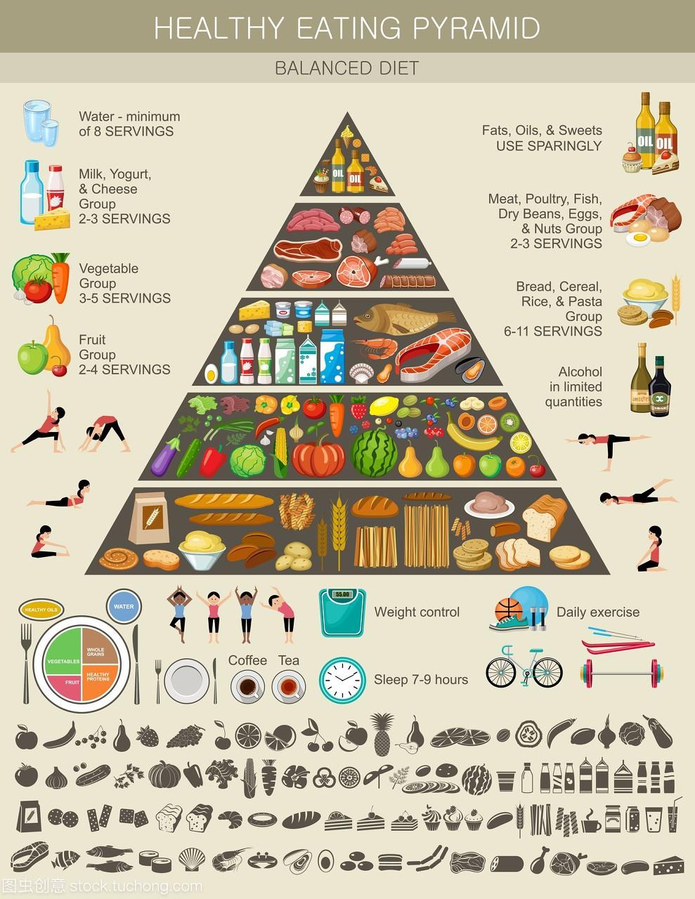 减肥,a饮食的,饮食,金字塔,内脏,食品,养生,节食,有营养墨鱼能吃图片