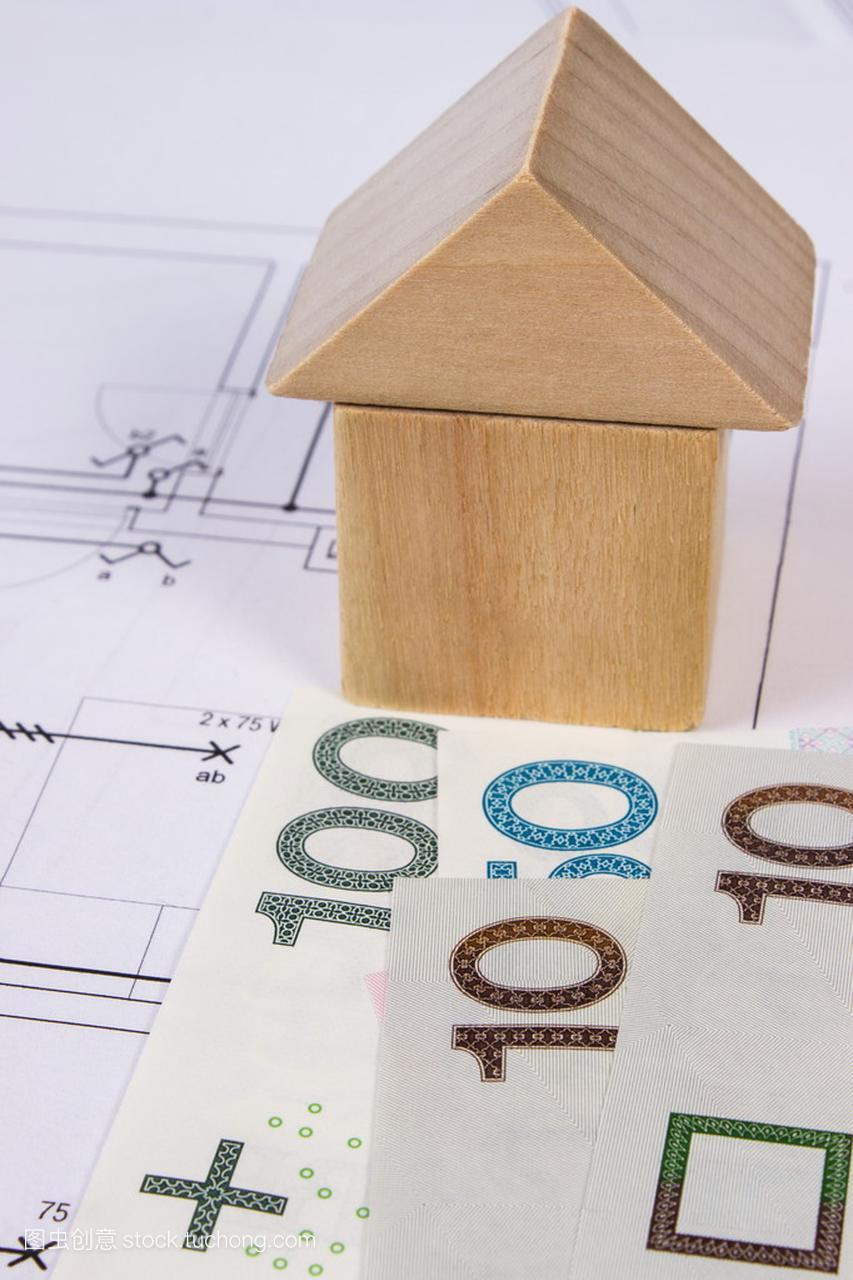 盖房子的木图纸和波兰货币对施工图v房子,房子积木信腾达北京诺图片
