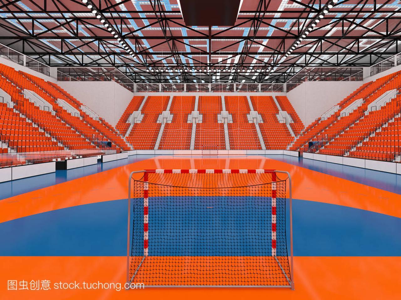 现代球迷竞技场橙色与芭蕾体操和1万艺术的体育好座椅还是手球好图片