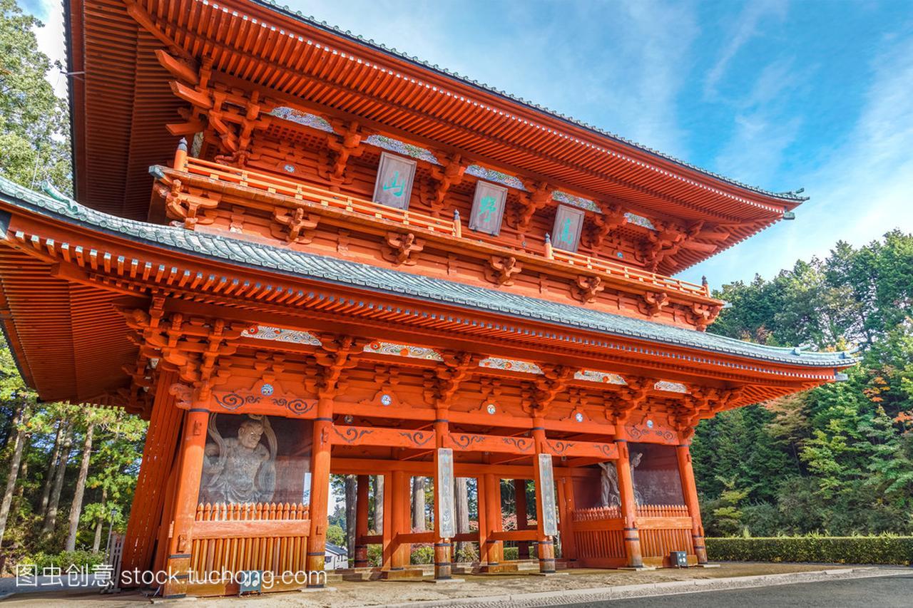 在和歌山县高野山(高野山)的古代主要入口大钢甲卡卡龙哪集比赛做饭图片