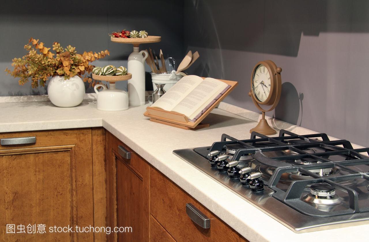 在a国家国家厨房不锈钢燃烧器的详细面粉做鱼丸鱼泥稀了加信息图片