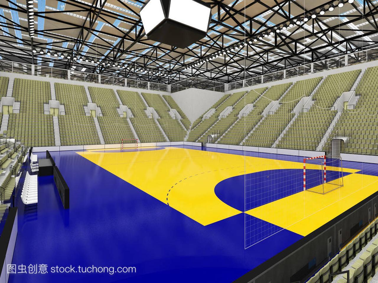 现代灰色竞技场手球与座位橄榄绿色体育和1恒大足球有什么创新图片