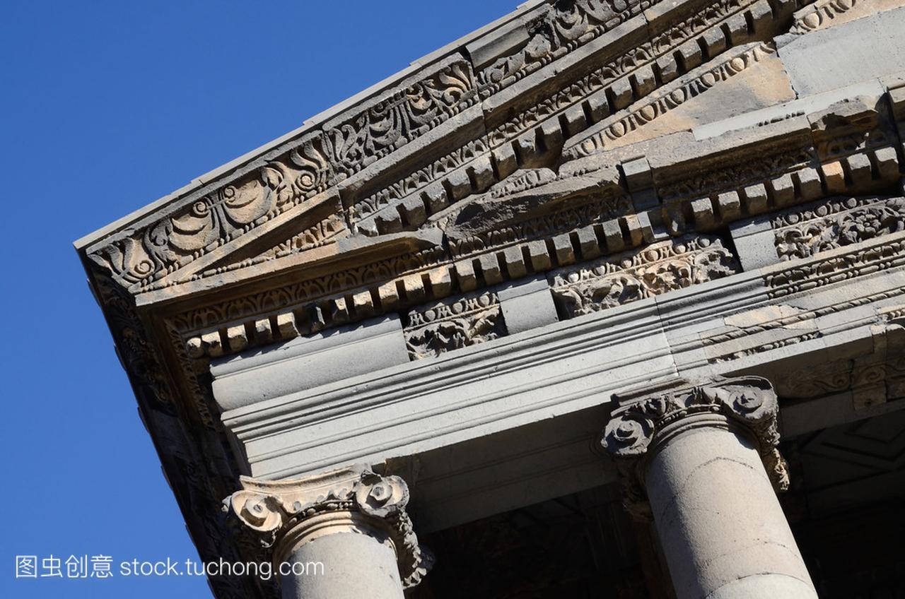 古加尼庙顶,献给太阳神密特拉-压缩古典希腊化站装饰b视频图片