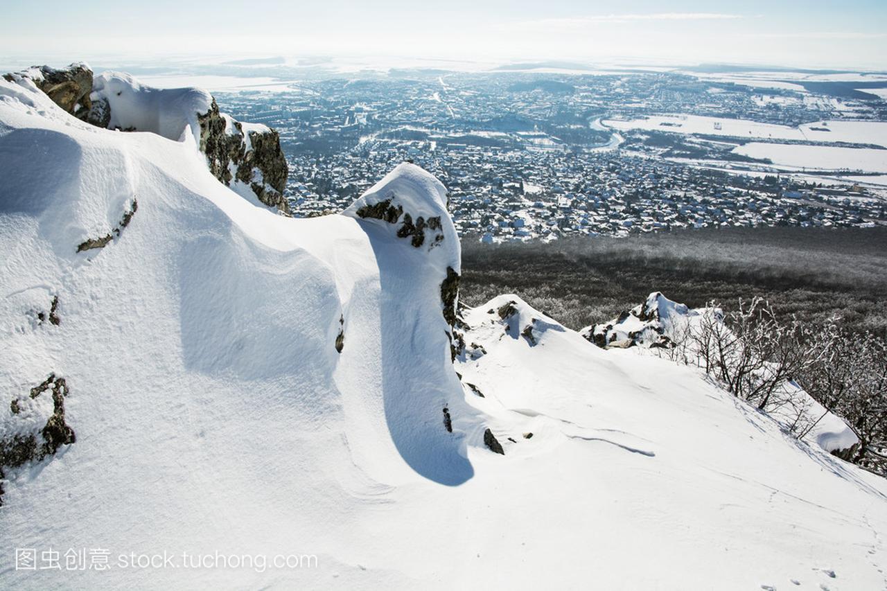 在美食的尼特拉市雪岩德国的图片后台图片