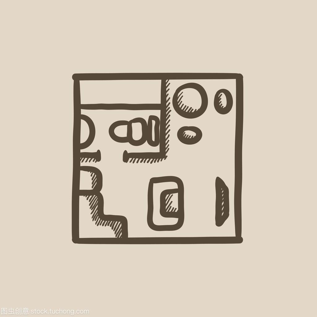家具内部与图标房子素描迈皋桥家具二手收图片