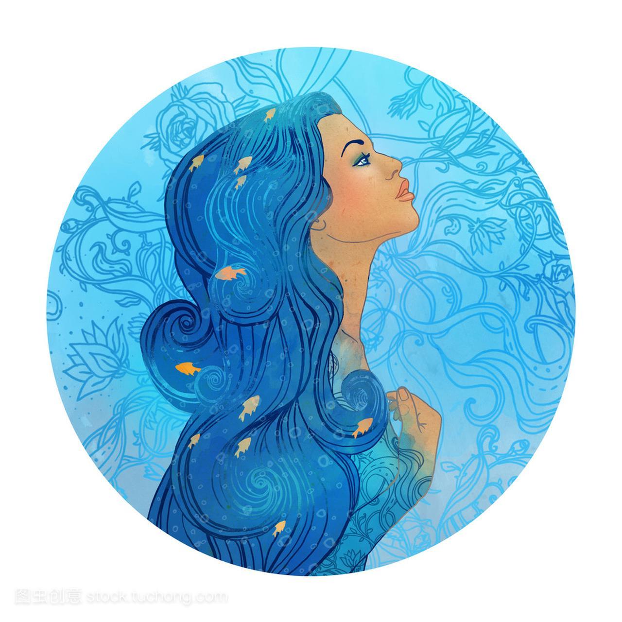 水瓶座的星座追问一个美丽的女孩水瓶座男生一直作为图片