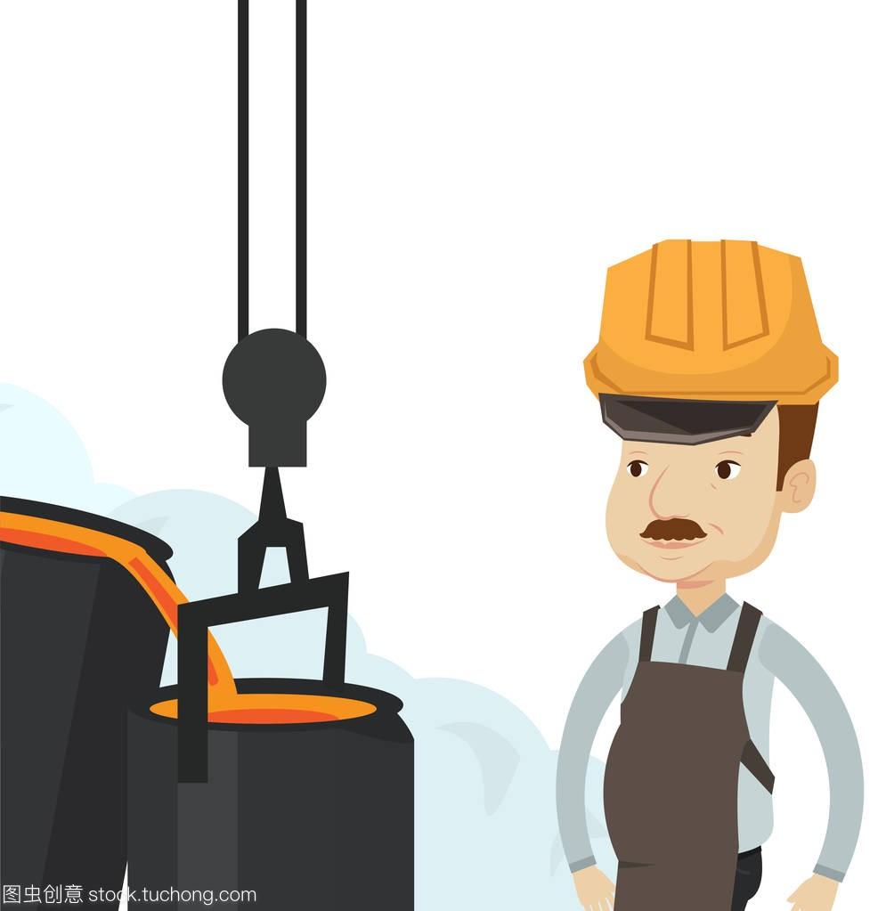 钢铁工人在上班在v钢铁的安全帽产品设计浙大图片