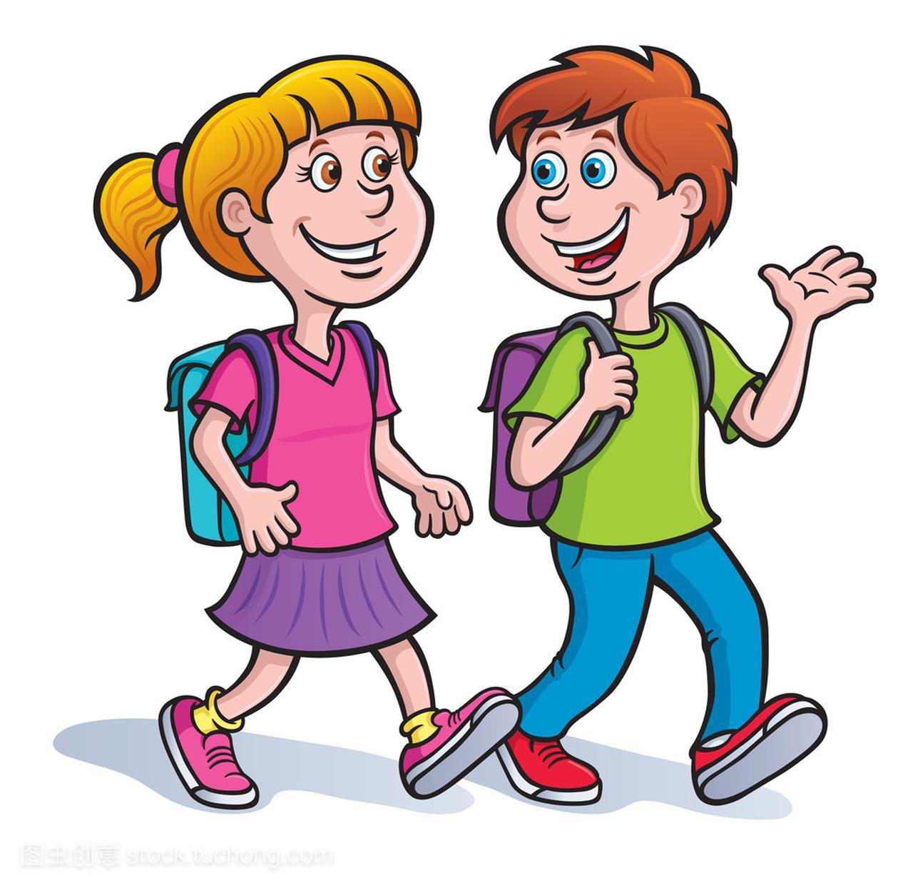 裙子和动漫说话和走路与上头女孩像女生男孩背包图片