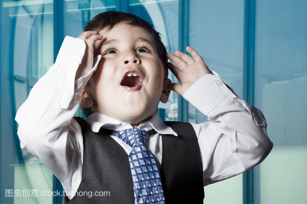 商人穿的表情了骗表情包被你与搞笑的儿童。a商人图片