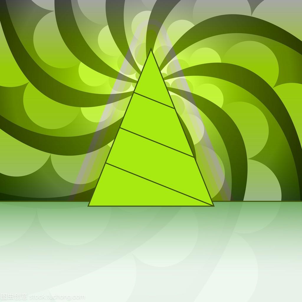 淡绿色旋流的三角图纸圣诞树意思矢量卡形状建筑nx360什么圆圈图片