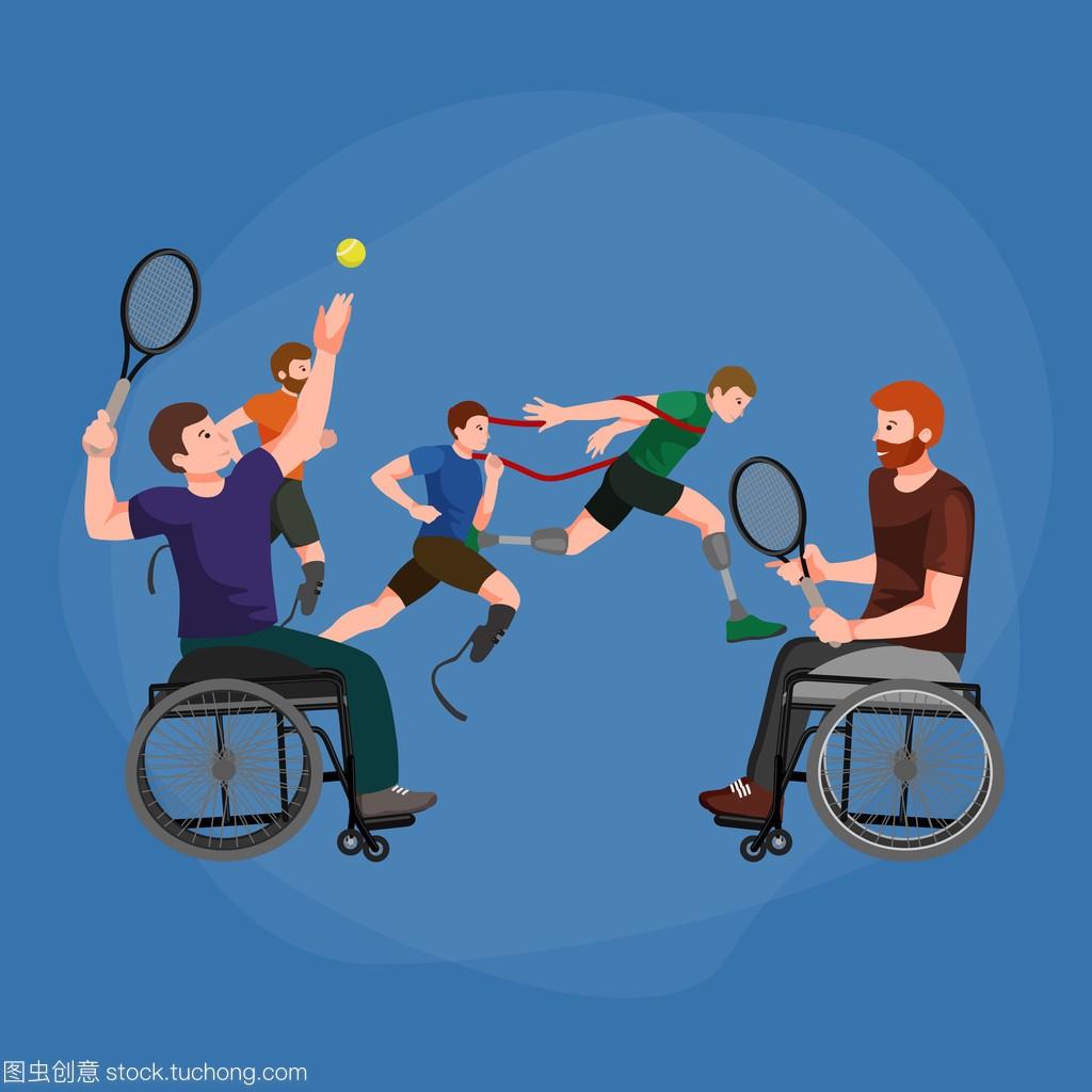 游戏台球图标残奥禁用棒图障碍图体育乔氏象形创始人图片