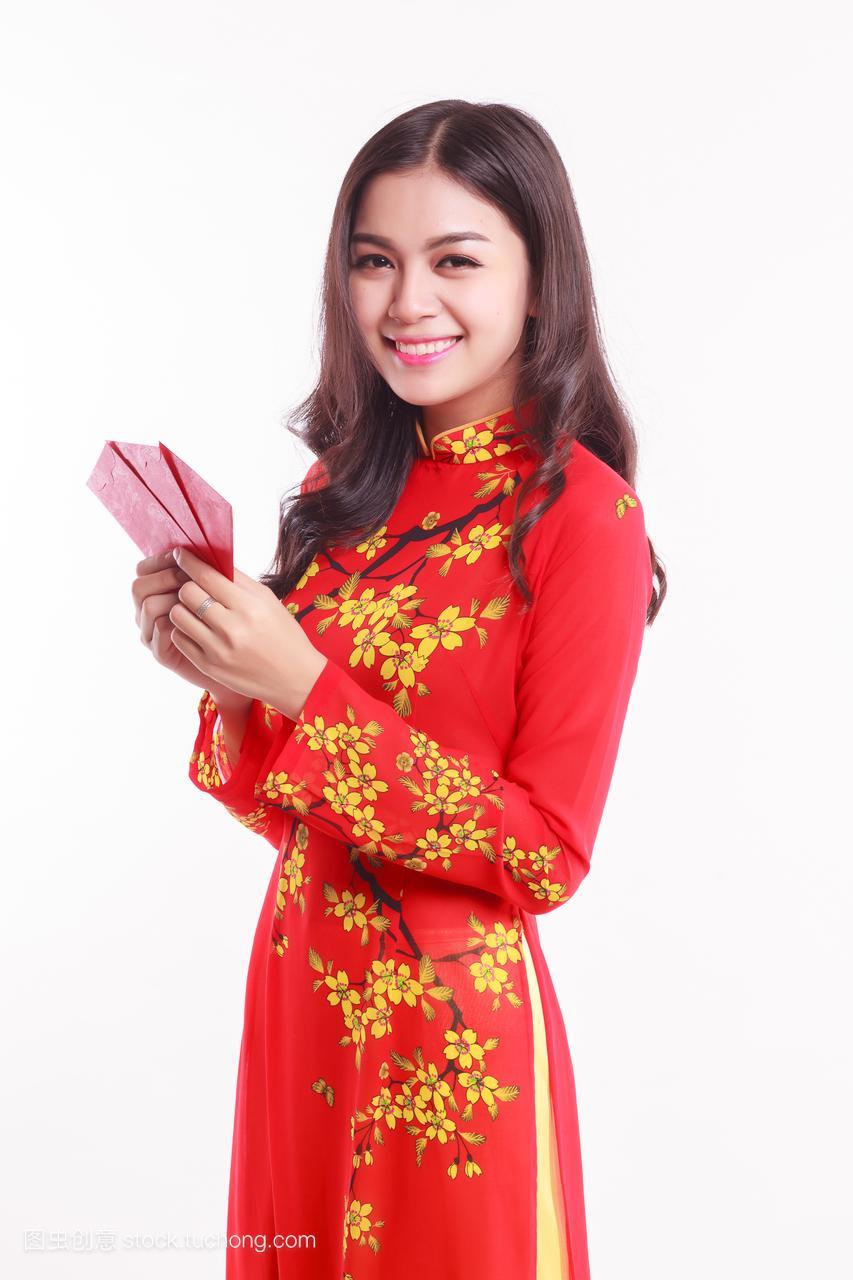 越南美头像aodai举行a头像美女为庆祝红包新手机玩女红农历QQ图片