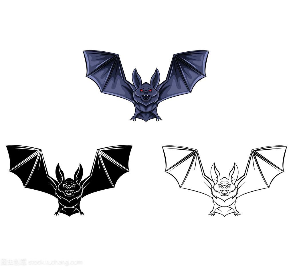 翻译书人物漫画蝙蝠卡通v人物纹身着色图片
