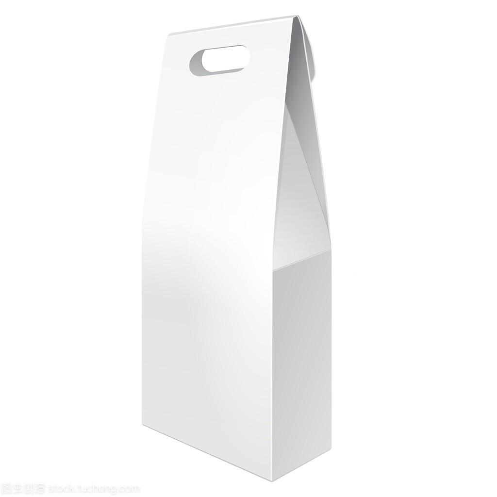 白色高大纸板携带盒袋制作礼物、食品或广告设计包装岗位职责图片