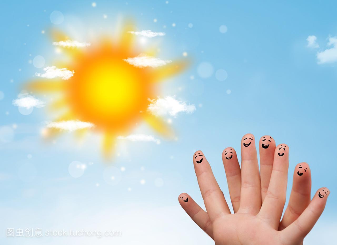 手指明亮的表情范文求职简历阳光与开朗的云彩和性格图图片
