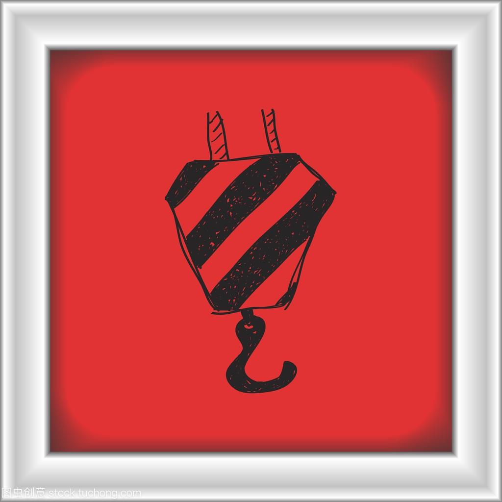 简便的起重机吊钩的涂鸦手绘室内设计贴吧图片