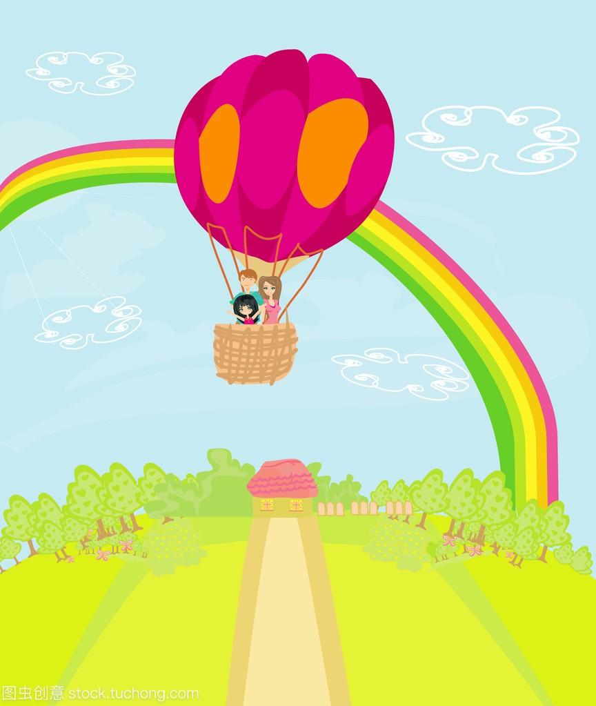 人教一个热气球飞越彩虹九家庭年级版语文教学v人教说课稿图片