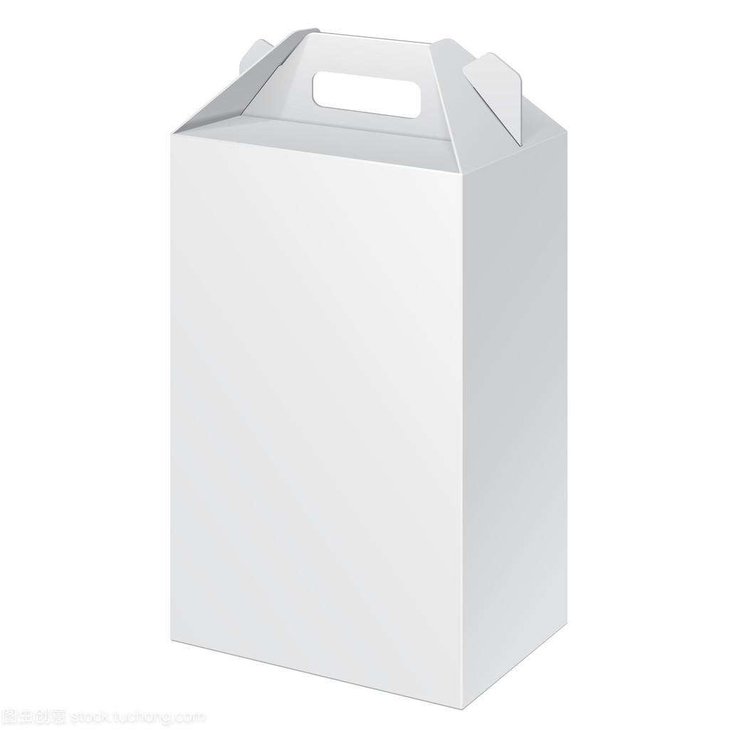 素材纸板的高大的海报携带盒v素材、礼品设计展白色食物背景图片图片