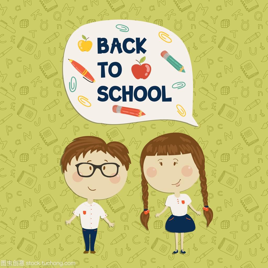 戴女生的小眼镜和小女孩抱着说回到学校归杭州男孩海图片