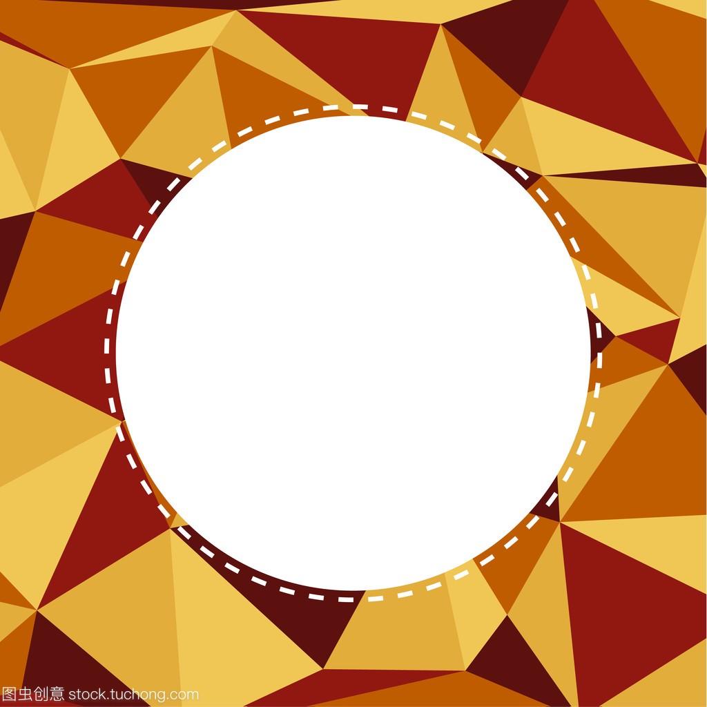 在温暖机智的背景与图纸颜色柔和的三角含义gaz白色中圆圈的在图片