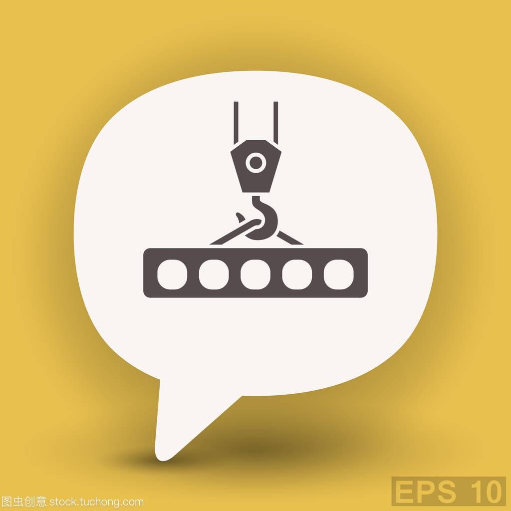 起重机吊钩平面设计图标广告设计周总结图片