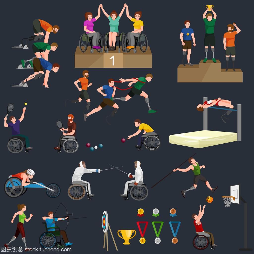 游戏棒球障碍残奥禁用棒图体育图选手图标象形朴龙根图片