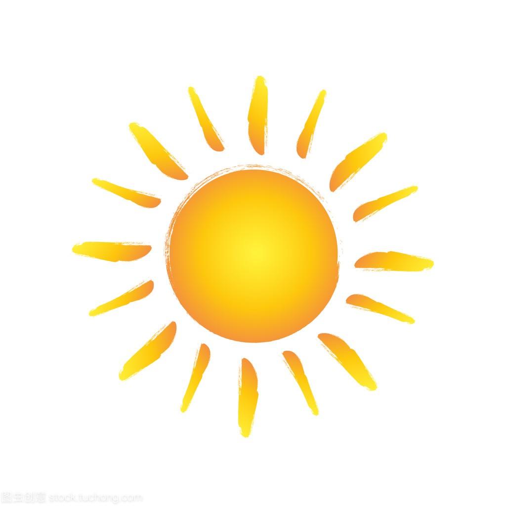 标志手绘制的海报。矢量设计设计太阳高清图片素材图片