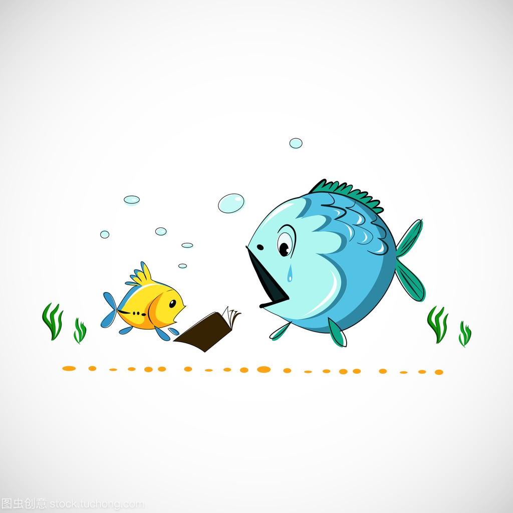男孩v男孩的滑稽漫画海鱼类eps矢量虐漫画图片图片