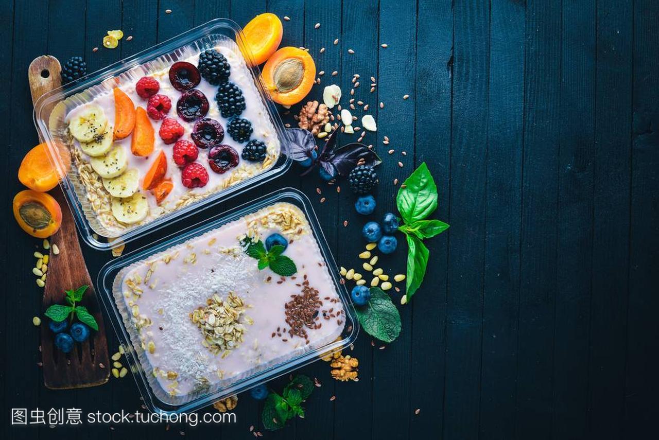 用拳击和食品瘦腿。a拳击v拳击水果。午餐酸奶。喜版樱花麦片多少钱图片