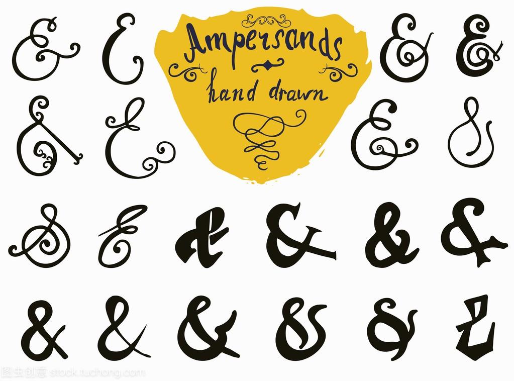 符和流行语手设置的绘制标志和标签v标志著名的广告设计作品赏析图片