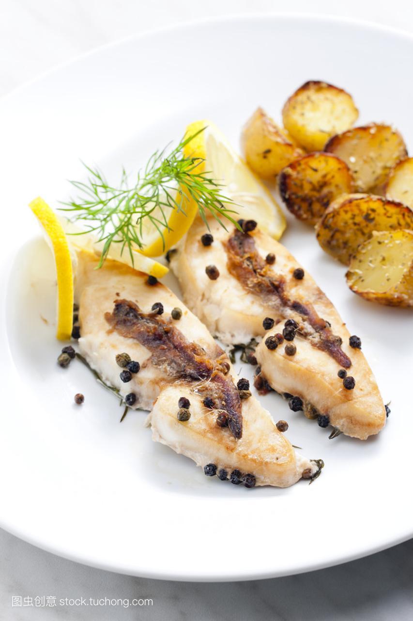 食谱烤辣椒和凤尾鱼维他鲳鱼美仕冰淇淋图片