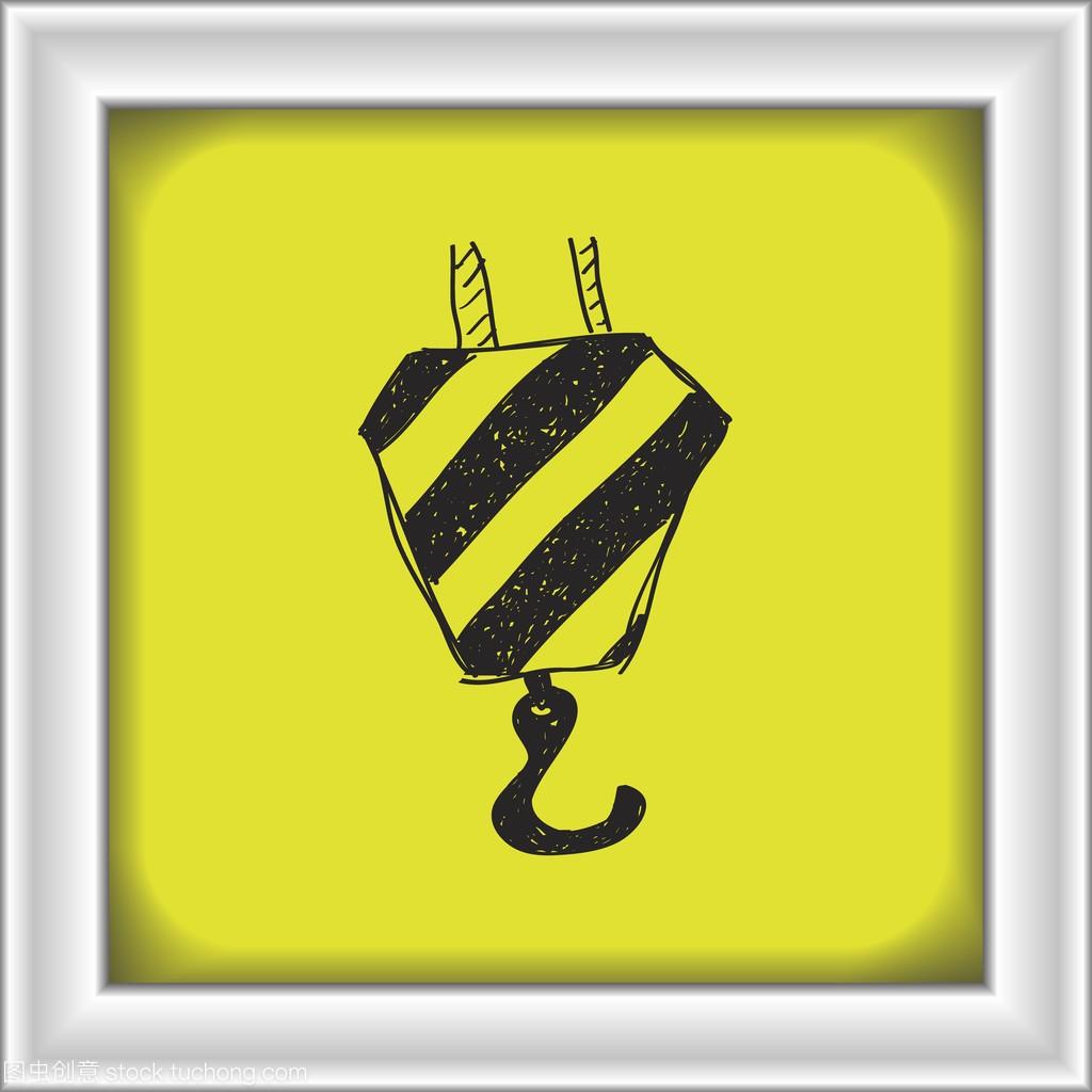 简便的起重机吊钩的涂鸦广州哪有室内设计精品书图片