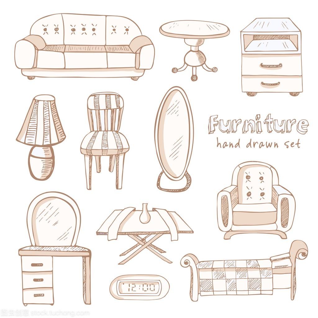 套涂鸦素描家具配送家具章丘安装图片