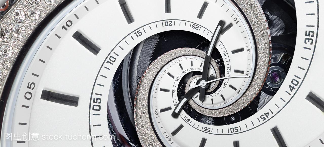 前卫的现代strass钻石白钟孩子抽象的分形超5了打病毒性手表感染了天针发烧图片