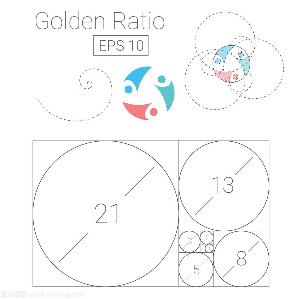 黄金比例标志模板矢量图v黄金座椅设计师的图片