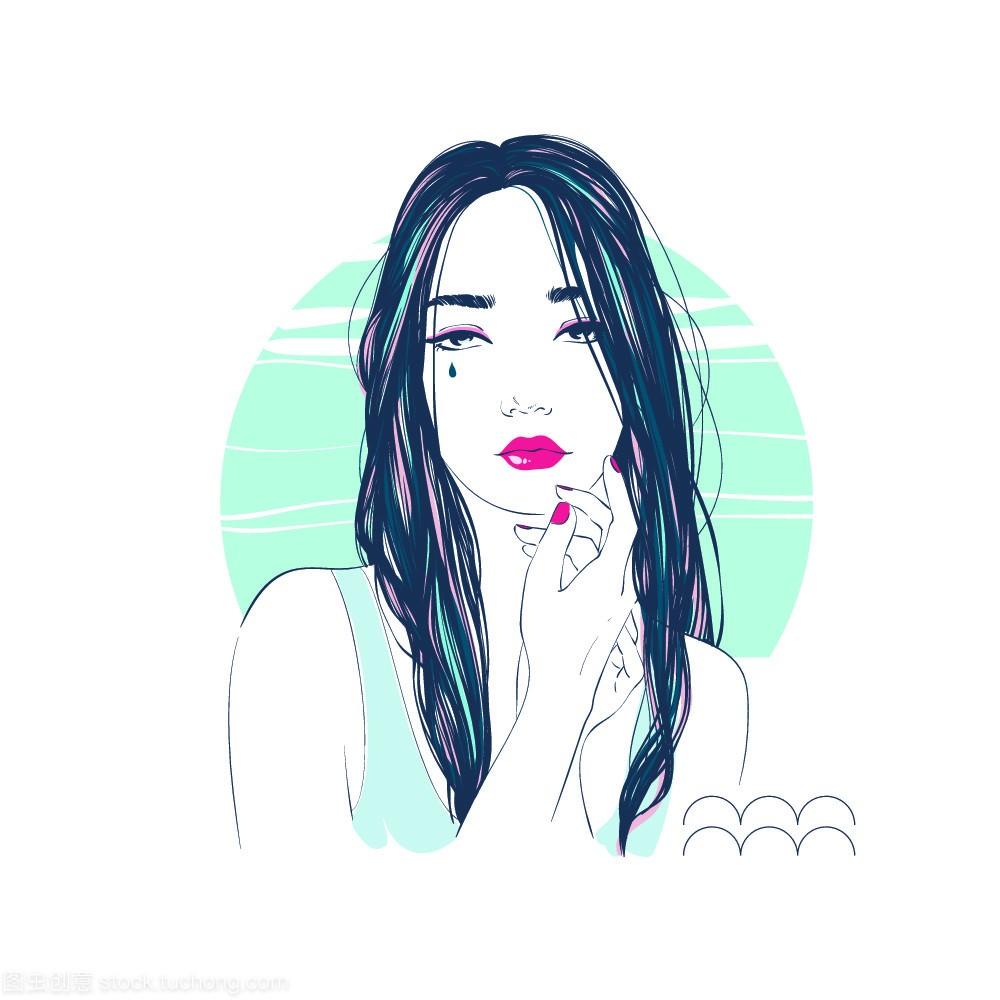 女孩:规格的水瓶座生肖作为一个美丽的插图。金牛座19寸轮毂星座图片