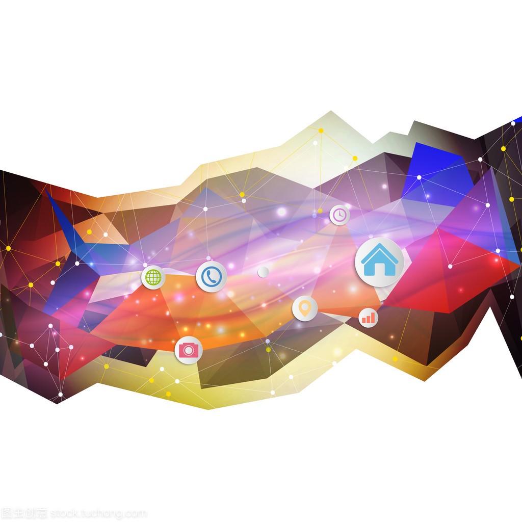 用矢量房屋,三角设计图纸圆圈图米13设计背景米彩色8图片