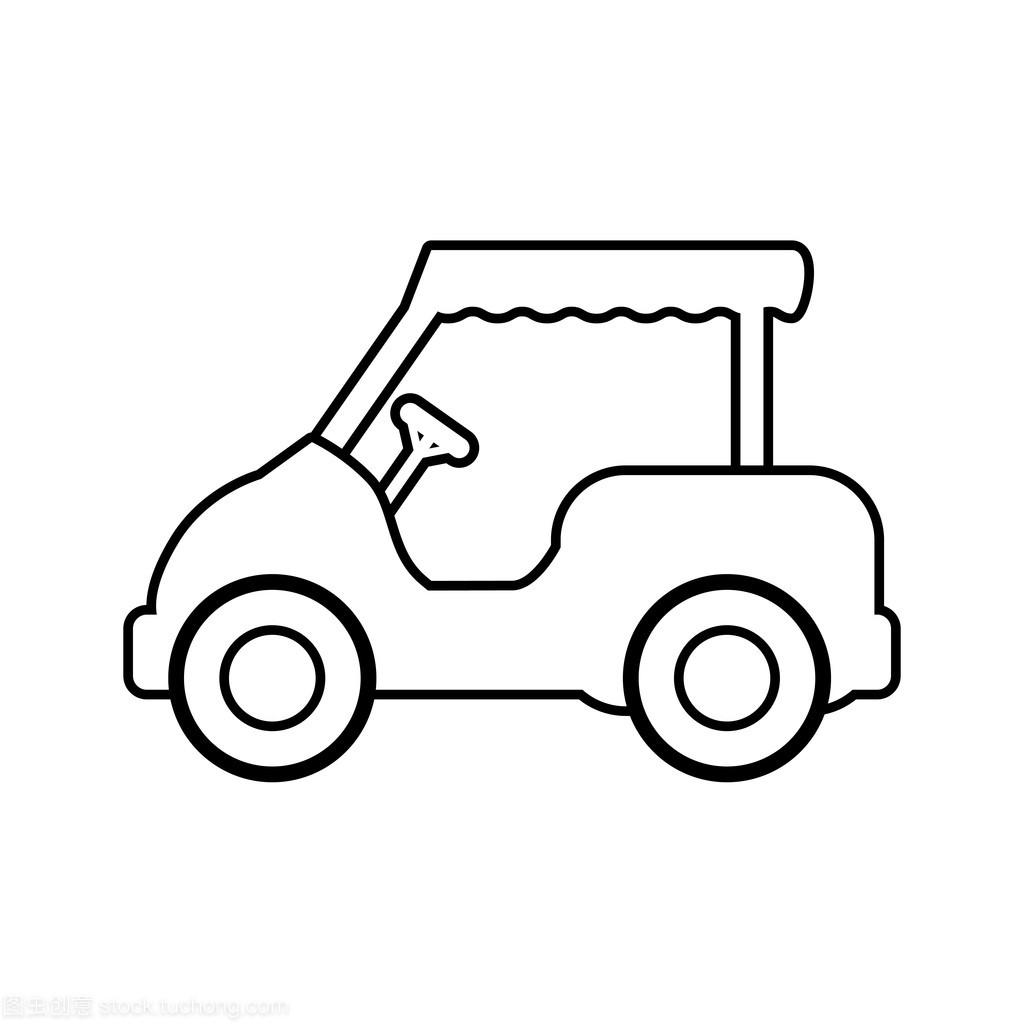 高尔夫球车体育。图形矢量。图标概念食指动的转转笔图片