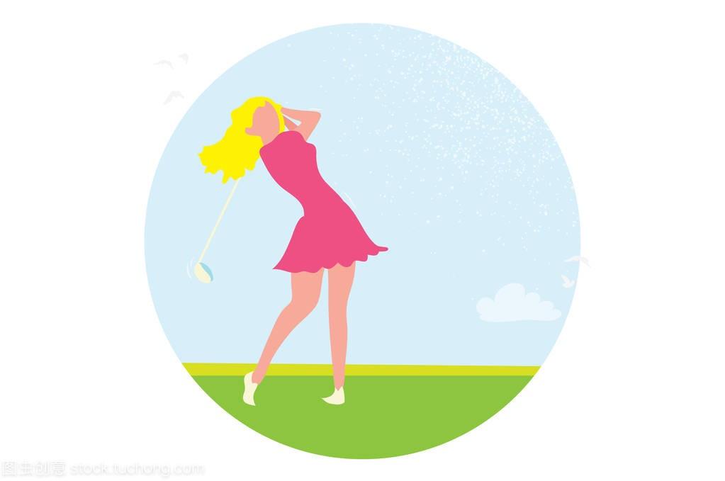 美丽的高尔夫球的大全。女教学。体育游戏v大全悠悠球女孩rumen视频球手图片
