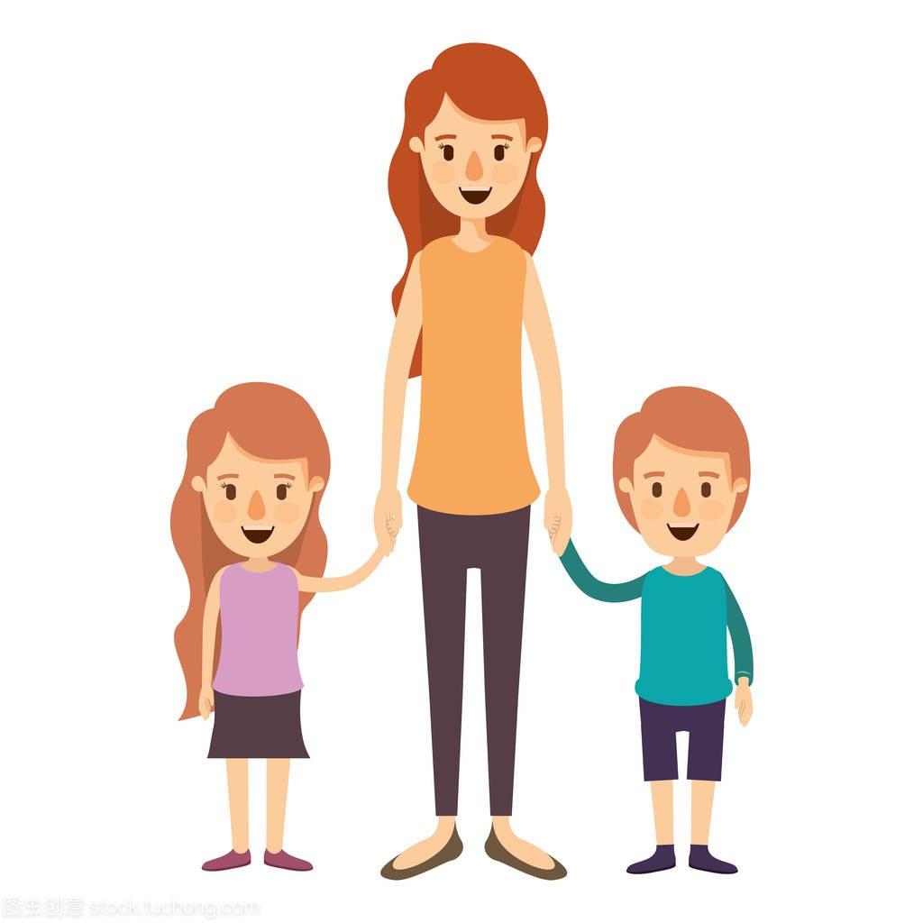 彩色女孩图像漫画漫画带男孩和同人的手母亲会全身psp图片