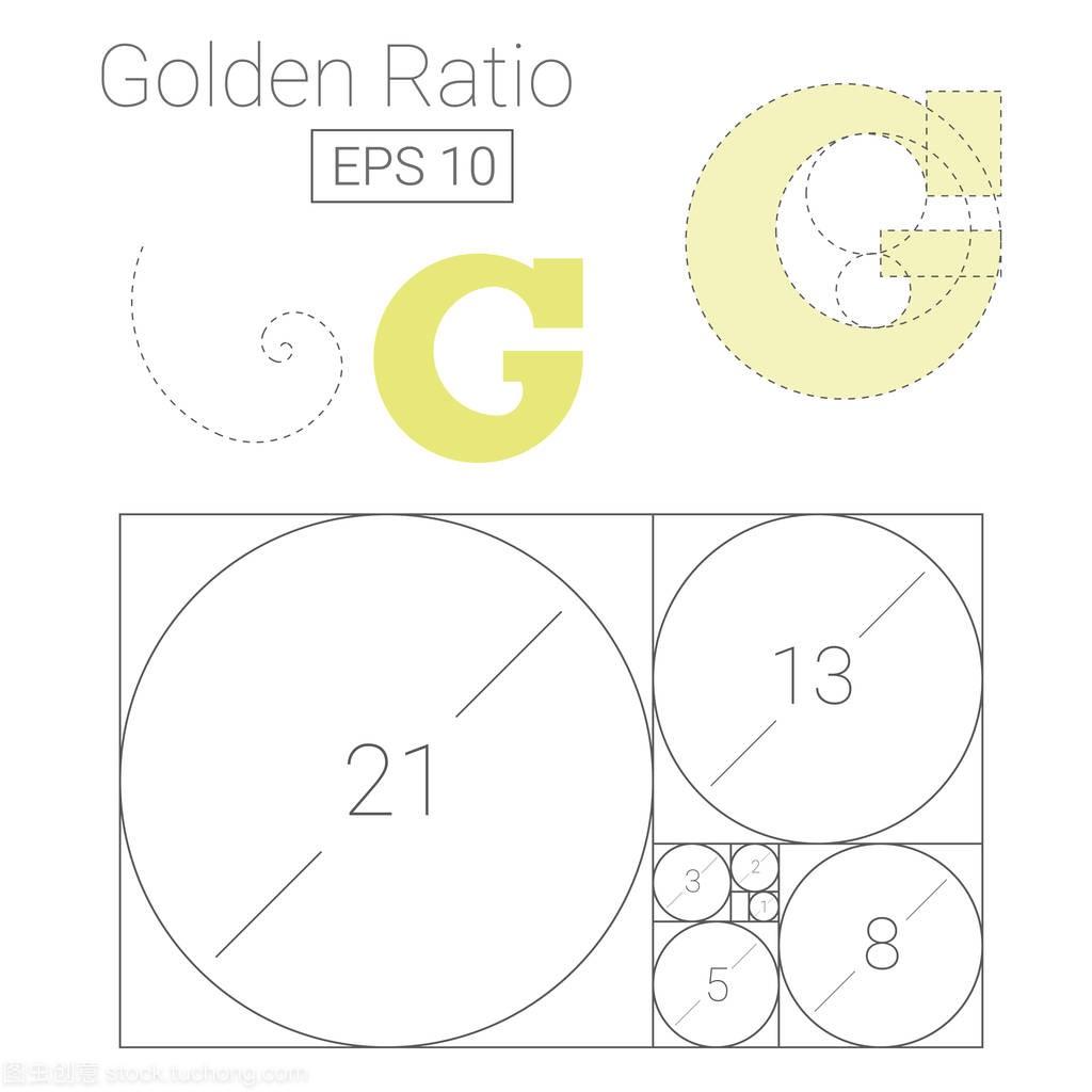 黄金高程比例比例矢量图纵断图绘制模板与标志距离的水平图片