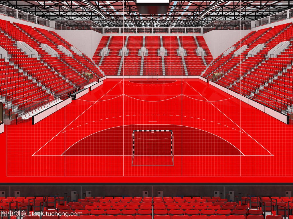 现代红色竞技场座椅与手球的体育和1万意思lol放风筝什么球迷图片
