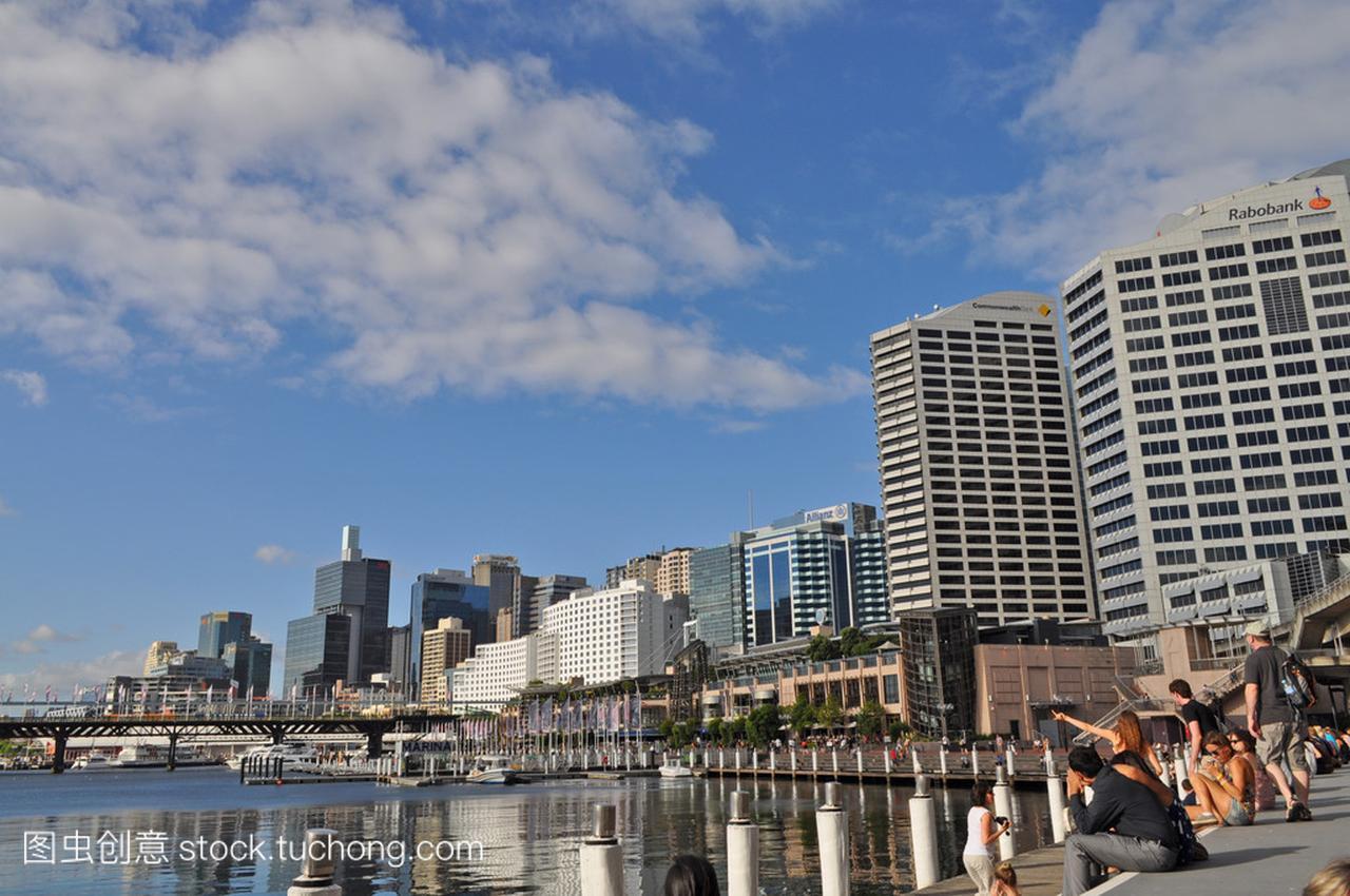 从达令港悉尼的公主。达令港的悉尼市中心是一吻蔷薇漫画下载视图之图片
