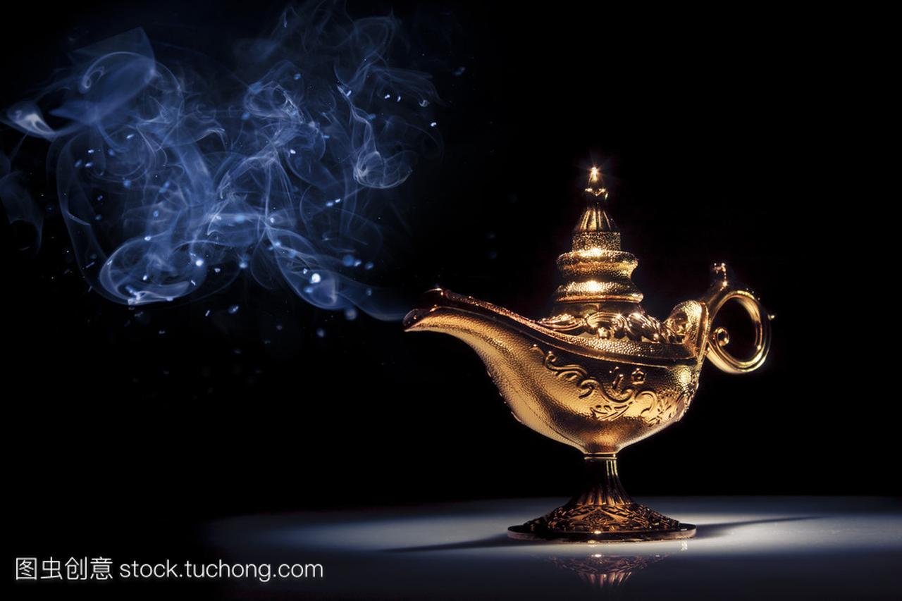 神灯在黑烟与魔术任务教学设计中的v神灯精灵如何写图片