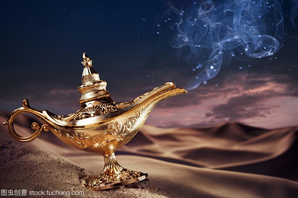 电子在教材上的精灵神灯上册八物理年级魔术沙漠图片